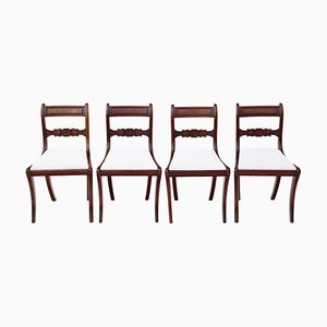 Mahogany C1825 Dining Chairs, Set of 4
