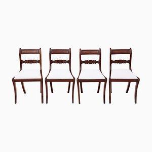 Mahogany C1825 Dining Chairs, Set of 4