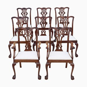 Antique C1910 Dining Chairs, Set of 8