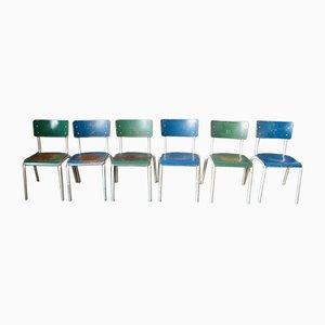 Chaises de Salon Industrielles Patinées, 1970s, Set de 10