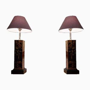 Tortoise Shell Pattern Table Lamps by Anthony REDMILE, 1960s, Set of 2