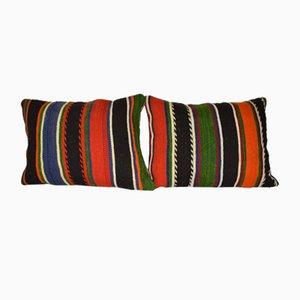 Geometrische aztekische türkische Kelim Kissenbezüge, 2er Set