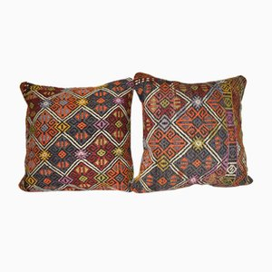 Bohemian Tribal Throw Cushion Covers, Set of 2