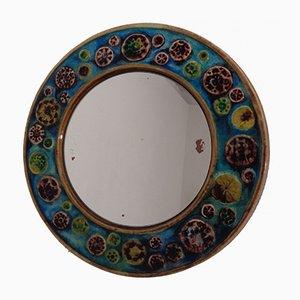 Französischer Keramik Spiegel, 1960er