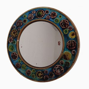 French Ceramic Mirror, 1960s