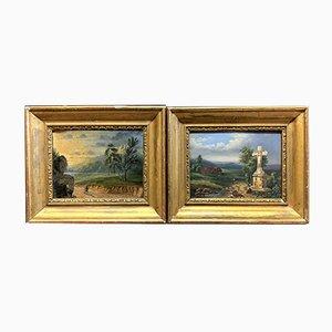 Charles Grant Beauregard, Framed Oil Paintings, Set of 2
