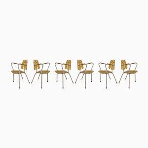 Chaises de Jardin, France, 1960s, Set de 6