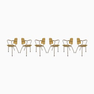 Französische Gartenstühle, 1960er, 6er Set