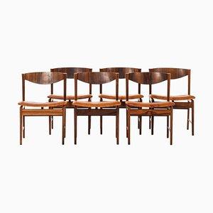 Palisander Esszimmerstühle von Ib Kofod-Larsen für Seffle Möbelfabrik, 1960er, 6er Set