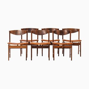 Rosewood Dining Chairs by Ib Kofod-Larsen for Seffle Möbelfabrik, 1960s, Set of 6