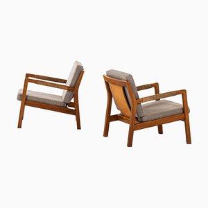 Model Rialto Easy Chairs by Carl Gustav Hiort af Ornäs, Finland, 1957, Set of 2