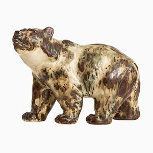 Danish No. 20155 Ceramic Bear by Knud Kyhn for Royal Copenhagen, 1950s