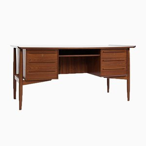 Mid-Century Danish Teak Desk by Arne Vodder for HP Hansen, 1960s