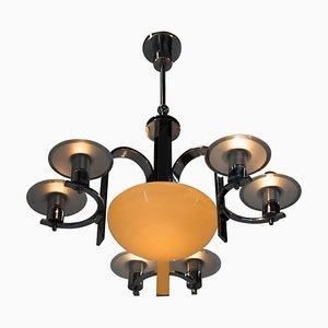 Lampadario Art Deco 7 fiammingo, anni '30