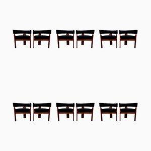 Chaises de Salon par Ettore Sottsass pour Poltronova, 1960s, Set de 12