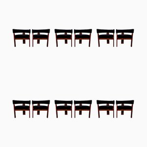 Dining Chairs by Ettore Sottsass for Poltronova, 1960s, Set of 12