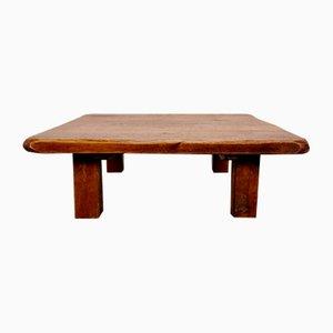 Solid Oak Coffee Table, 1970s