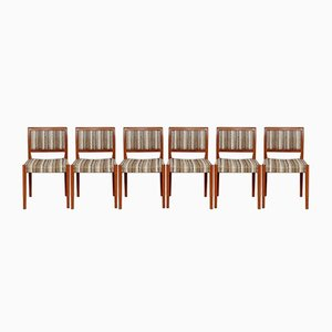 Mid-Century Swedish Teak Dining Chairs from Troeds, Set of 6