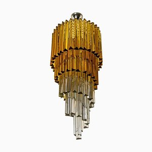 Spiral Murano Glass Chandelier from Venini, 1970s