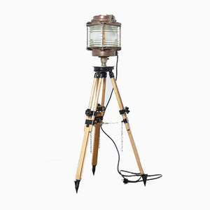 Maritime Navigation Light on Surveyors Tripod