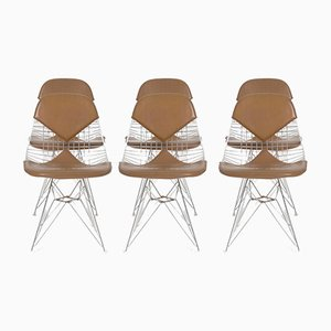 DKR Wire Bikini Chairs by Charles & Ray Eames for Herman Miller, 1960s, Set of 6