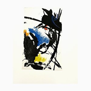 Jean Miotte, Abstract Composition, 1998, Etching