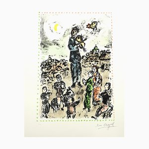 Lithographie Marc Chagall, Plaza Concert, 1983