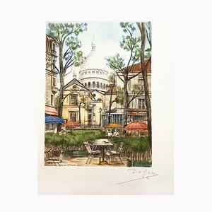 Dufza, Paris Montmartre, 1940, Etching
