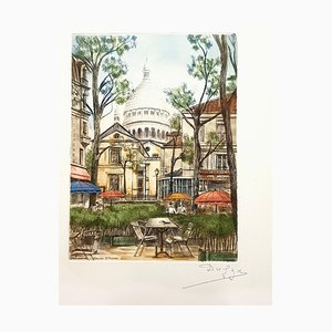 Dufza, Paris Montmartre, 1940, Radierung