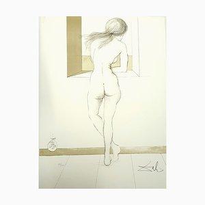 Litografia di Salvador Dali, Nude at the Window, 1970