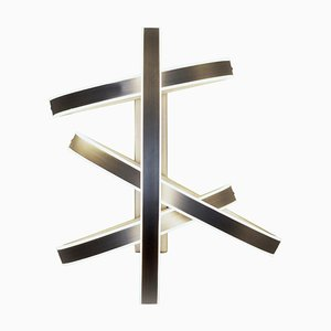 Brass ''''cut Circle'''' Wall Light, Square in Circle