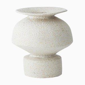 Psycter Hueso Stoneware Vase by Raquel Vidal and Pedro Paz