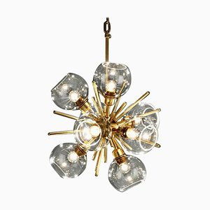 Small Translucent Blown Glass Pendant Lamp