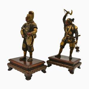 Antique and Gilded Bronze Sculptures, Set of 2