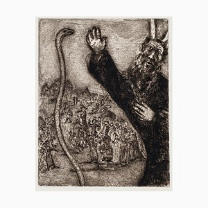Marc Chagall, Moses and the Serpent, 1956, Original Etching