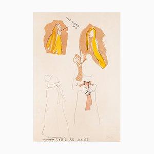 Litografia originale di Jim Dine, Sybil As, 1968