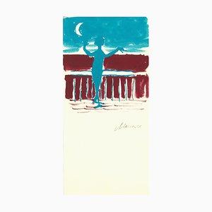Mino Maccari, Advertisement for Tirreno, 1970, Original Drawing
