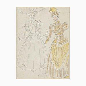 Eugène Berman, Theatrical Costume, 20th Century, Original Drawing