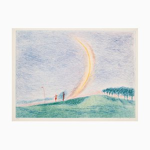 Landschaft, 20. Jahrhundert, Originale Lithographie