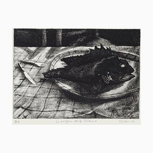 Piero Cesaroni, the Scorpionfish without the Glass, 1994, Original Etching