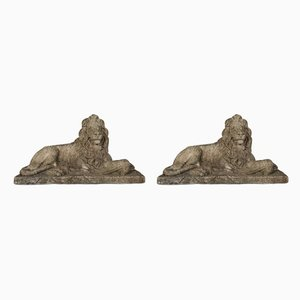 Mid-20th Century Lions, Set of 2