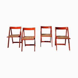 Folding Chairs, 1970s, Set of 4