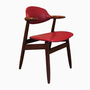 Vintage Cowhorn Beistellstuhl von Hulmefa Propos für Tijsseling, 1950er
