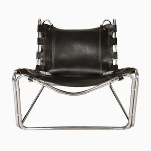 Leather Fabio Lounge Chair by Pascal Mourgue for Steiner, 1960s