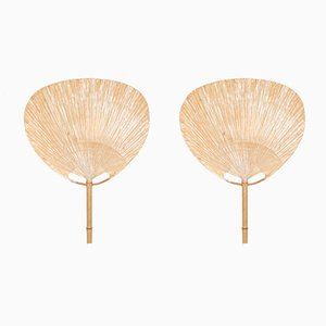 Uchiwa Sconces by Ingo Maurer, 1977, Set of 2
