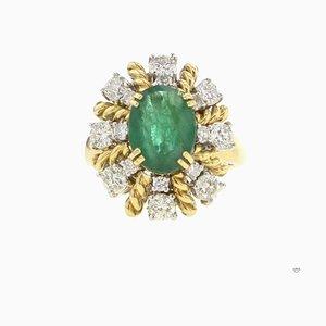 Smaragdfarbener Diamantring, 1990er