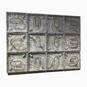 Decorative Sectional Glass Wall Panel with Lights by Toni Zuccheri for Venini, 1962, Set of 12