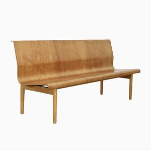 Scandinavian Plywood Bench, 1960s