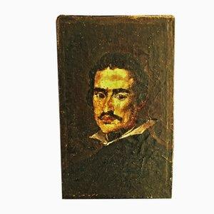 Small Antique Oil Portrait