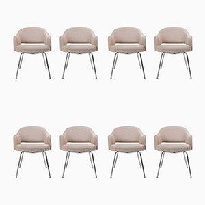 Saarinen Esszimmerstühle von Eero Saarinen für Knoll Inc. / Knoll International, 1940er, 8er Set